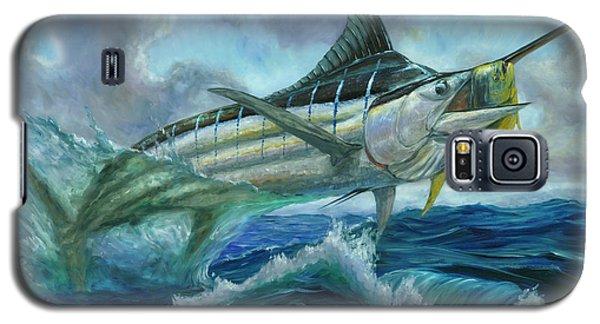 Grand Blue Marlin Jumping Eating Mahi Mahi Galaxy S5 Case
