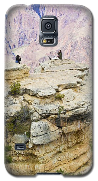 Galaxy S5 Case featuring the photograph Grand Canyon Photo Op by Chris Dutton