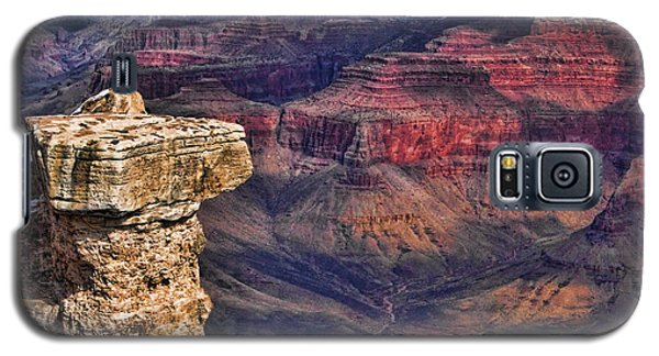 Galaxy S5 Case featuring the photograph Grand Canyon Stacked Rock by Roberta Byram