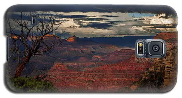 Galaxy S5 Case featuring the photograph Grand Canyon Storm Clouds by John A Rodriguez