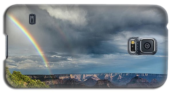 Grand Canyon Stormy Double Rainbow Galaxy S5 Case
