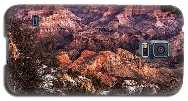 Grand Canyon Winter Sunrise Landscape At Yaki Point Galaxy S5 Case