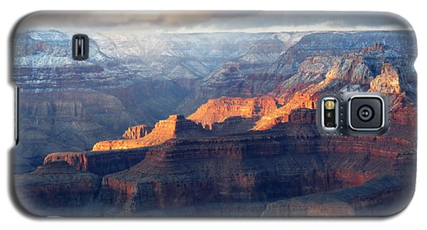 Galaxy S5 Case featuring the photograph Grand Canyon With Snow by Laurel Powell