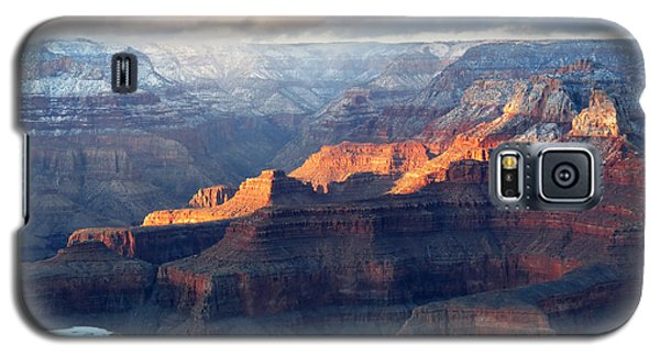 Grand Canyon With Snow Galaxy S5 Case by Laurel Powell
