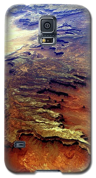 Galaxy S5 Case featuring the relief Grand Canyon01 From 6mi Up by Irma BACKELANT GALLERIES
