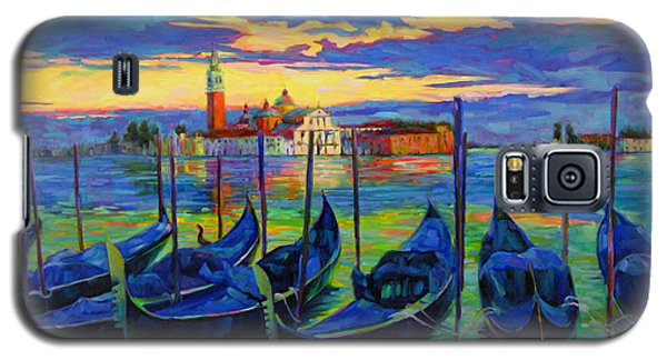 Galaxy S5 Case featuring the painting Grand Finale In Venice by Chris Brandley