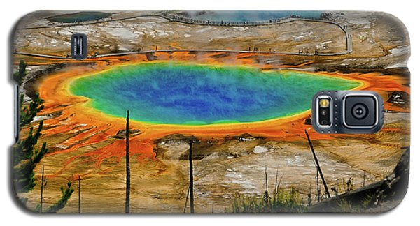 Grand Prismatic Spring Galaxy S5 Case by Greg Norrell