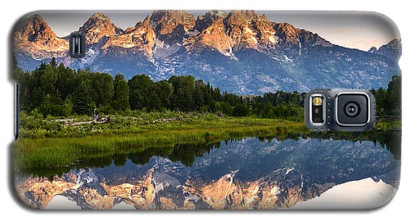 Galaxy S5 Case featuring the photograph Grand Teton Awakening by Dan Mihai