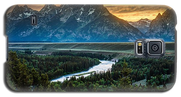 Grand Teton National Park Sunset Poster Galaxy S5 Case by Gary Whitton
