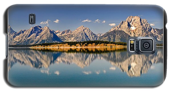 Galaxy S5 Case featuring the photograph Grand Tetons - Believe by Geraldine Alexander