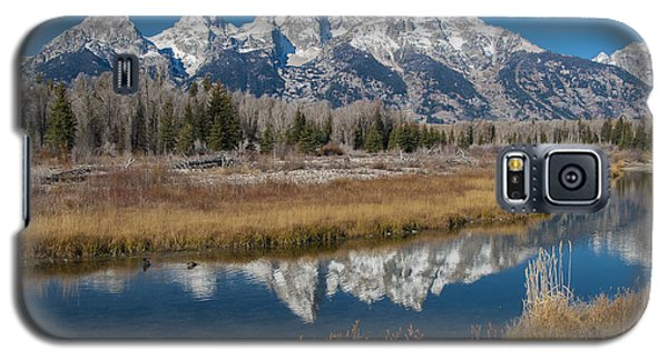 Galaxy S5 Case featuring the photograph Grand Tetons by Gary Lengyel