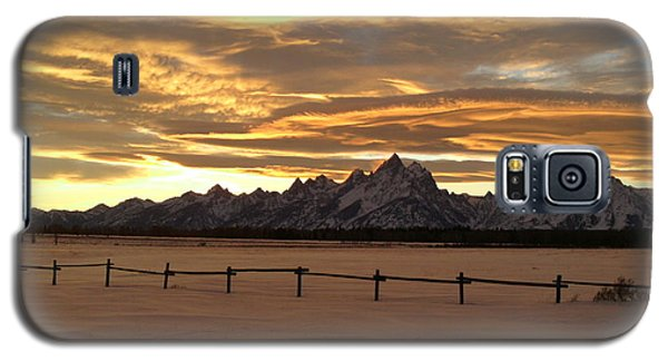 Grand Tetons In January Glory Galaxy S5 Case