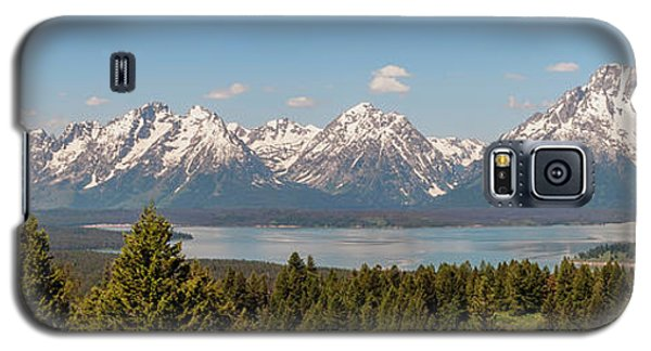 Grand Tetons Over Jackson Lake Panorama Galaxy S5 Case by Brian Harig