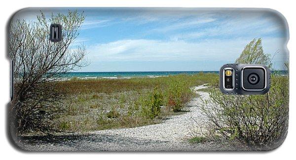 Galaxy S5 Case featuring the photograph Grand Traverse Bay Path by LeeAnn McLaneGoetz McLaneGoetzStudioLLCcom