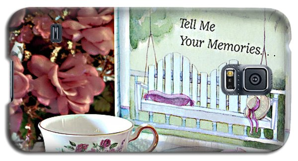 Galaxy S5 Case featuring the photograph Grandma Tell Me Your Memories... by Sherry Hallemeier