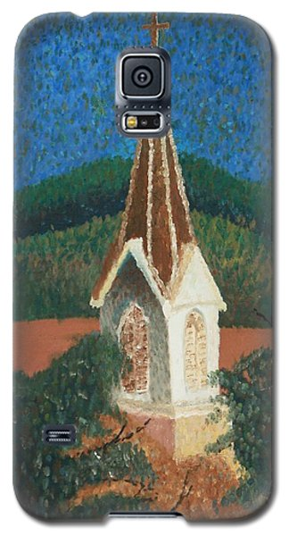 Galaxy S5 Case featuring the painting Grandmas Church by Jacqueline Athmann