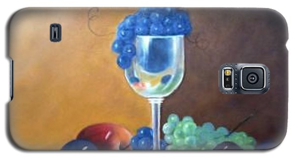 Galaxy S5 Case featuring the painting Grapes And Plums by Susan Dehlinger
