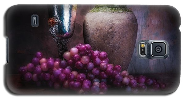 Grapes And Silver Goblet Galaxy S5 Case by Tom Mc Nemar
