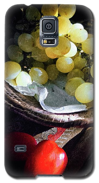 Galaxy S5 Case featuring the photograph Grapes And Tomatoes by Silvia Ganora