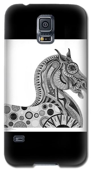 Galaxy S5 Case featuring the painting Graphite Horse by Bob Coonts