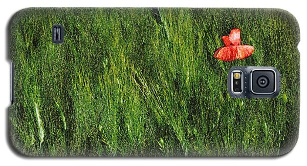 Grassland And Red Poppy Flower 2 Galaxy S5 Case by Jean Bernard Roussilhe