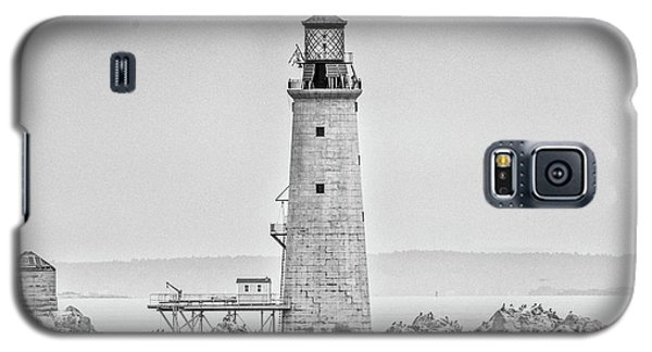Graves Lighthouse- Boston, Ma - Black And White Galaxy S5 Case