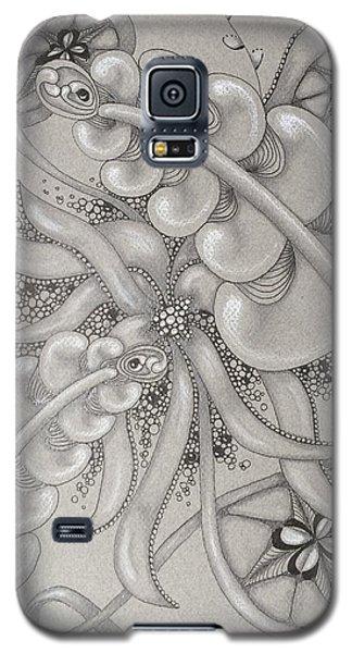 Gray Garden Explosion Galaxy S5 Case