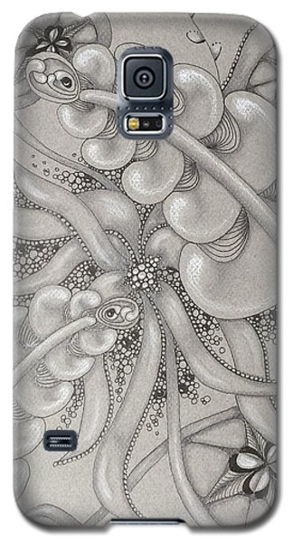Gray Garden Explosion Galaxy S5 Case