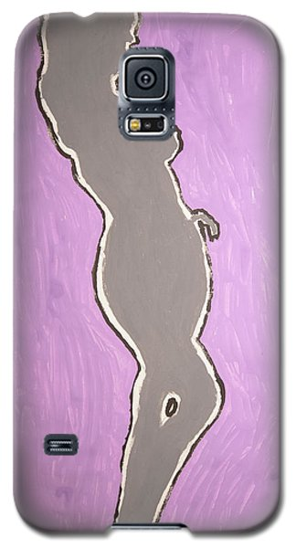 Gray Nude Ebony Standing Galaxy S5 Case by Stormm Bradshaw