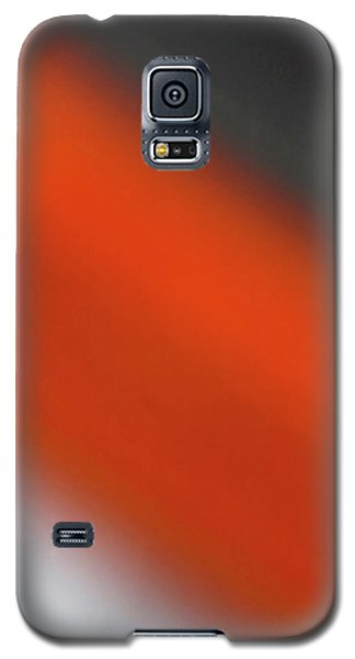 Gray Orange Grey Galaxy S5 Case by CML Brown