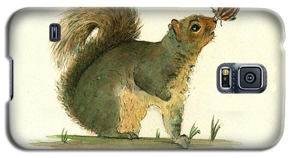 Gray Squirrel Butterfly Galaxy S5 Case by Juan Bosco