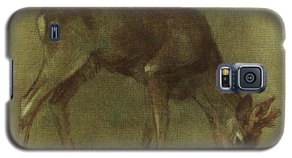 Grazing Roe Deer Oil Painting Galaxy S5 Case