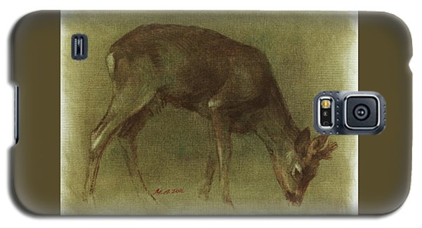 Grazing Roe Deer Oil Painting Galaxy S5 Case