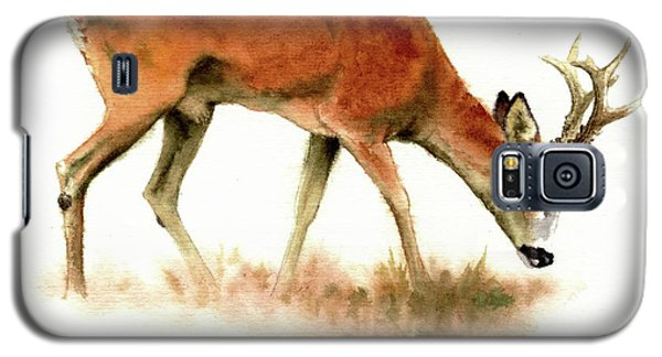 Grazing Roebuck Watercolor Galaxy S5 Case