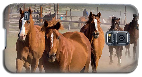 Great American Horse Drive - Coming Into The Corrals Galaxy S5 Case