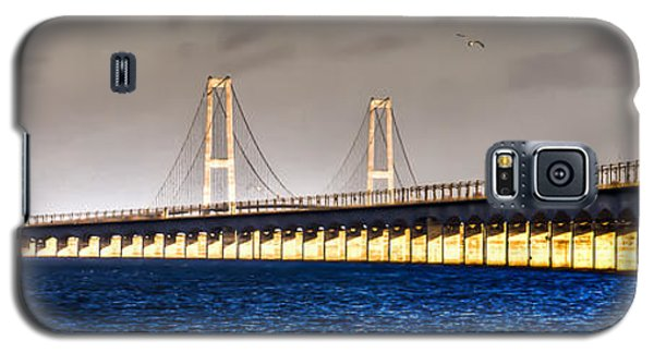 Galaxy S5 Case featuring the photograph Great Belt Bridge by Gert Lavsen