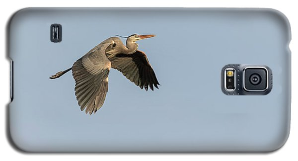 Galaxy S5 Case featuring the photograph Great Blue Heron 2015-15 by Thomas Young