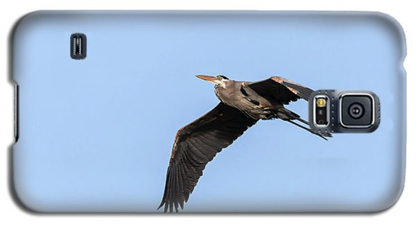 Great Blue Heron 2017-5 Galaxy S5 Case by Thomas Young