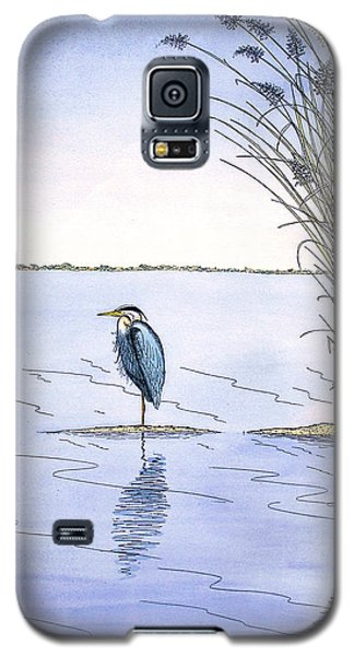 Great Blue Heron Galaxy S5 Case by Charles Harden