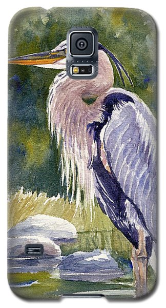 Great Blue Heron In A Stream Galaxy S5 Case
