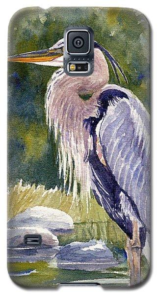 Great Blue Heron In A Stream Galaxy S5 Case
