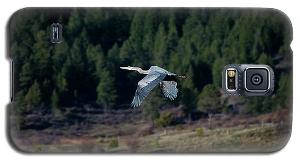 Great Blue Heron In Flight Galaxy S5 Case