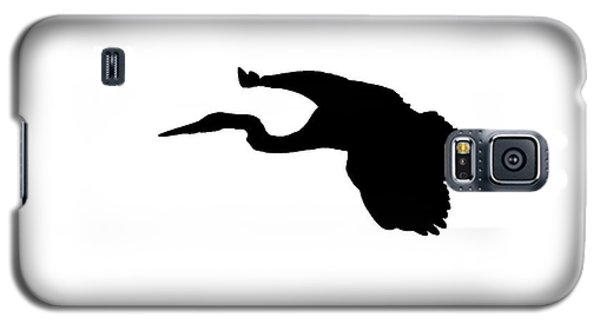 Great Blue Heron In Flight Silhouette Galaxy S5 Case
