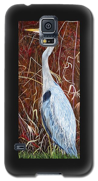 Great Blue Heron Galaxy S5 Case by Marilyn  McNish