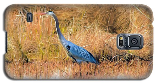 Great Blue Heron Galaxy S5 Case by Marion Johnson