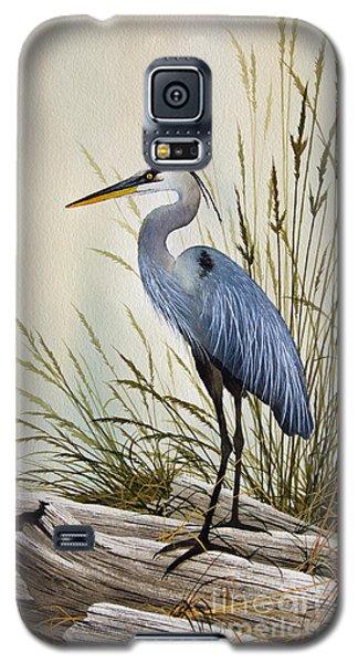 Great Blue Heron Shore Galaxy S5 Case