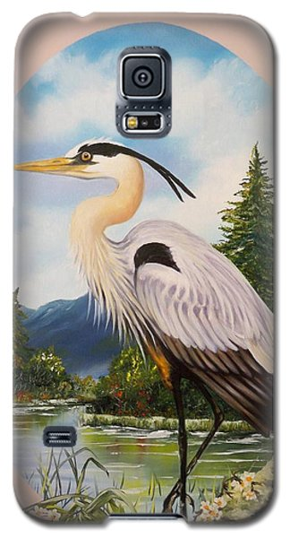 Great Blue Heron Galaxy S5 Case by Sigrid Tune