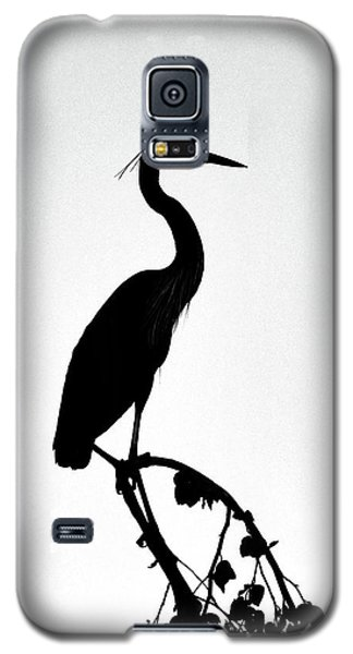 Great Blue Heron Silhouette Galaxy S5 Case
