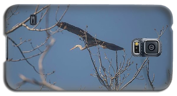 Galaxy S5 Case featuring the photograph Great Blue In Flight by David Bearden