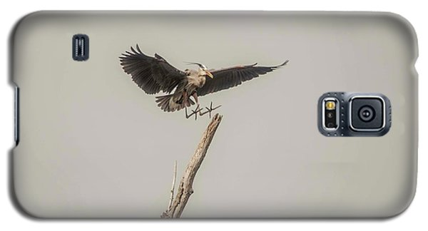 Galaxy S5 Case featuring the photograph Great Blue Landing by David Bearden